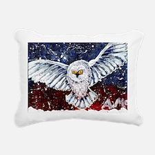 Eule, Schneeule Rectangular Canvas Pillow