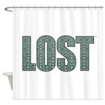 Lost DHARMA Pattern Shower Curtain