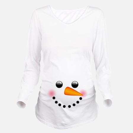 Snowman Face Maternity Shirt