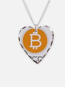 Bitcoin Orange Logo Necklace