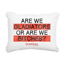 Gladiators or Bitches Rectangular Canvas Pillow