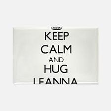 Keep Calm and HUG Leanna Magnets