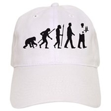 evolution of man waiter Baseball Baseball Cap