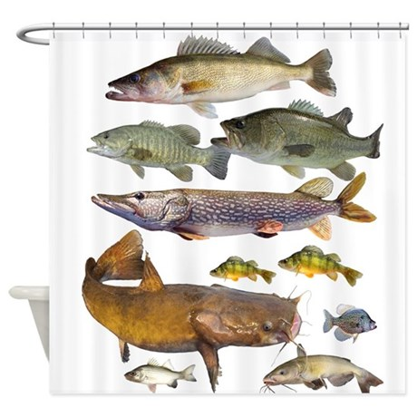 All Game Fish Shower Curtain By Fisheadtackle