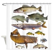 All Game Fish Shower Curtain