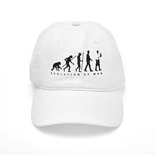 evolution of man waiter Baseball Baseball Cap