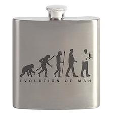 evolution of man waiter Flask