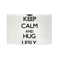 Keep Calm and HUG Lesly Magnets