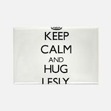 Keep Calm and HUG Lesly Magnets