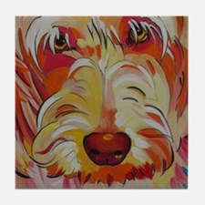 Harvey the Doodle Tile Coaster