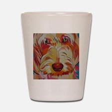 Harvey the Doodle Shot Glass
