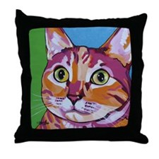 Pippa The Pop Art Kitty Cat Throw Pillow