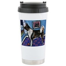 Funny Whimsical painting Travel Mug