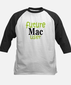 Future Mac User (green) Kids Baseball Jersey
