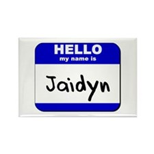 hello my name is jaidyn Rectangle Magnet