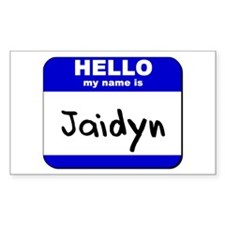 hello my name is jaidyn Rectangle Decal