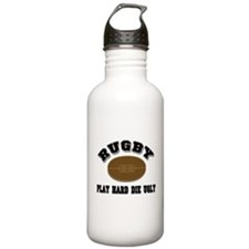 Rugby Play Hard Die Ugly Water Bottle