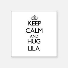 Keep Calm and HUG Lila Sticker