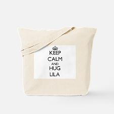 Keep Calm and HUG Lila Tote Bag