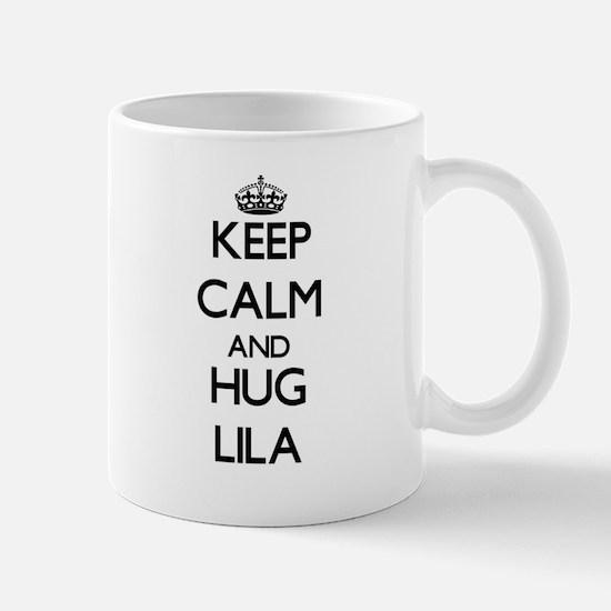 Keep Calm and HUG Lila Mugs