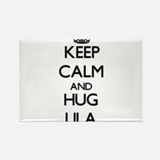 Keep Calm and HUG Lila Magnets
