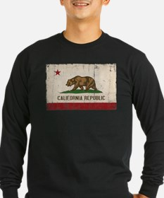 California Flag Distressed T