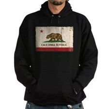 California Flag Distressed Hoodie