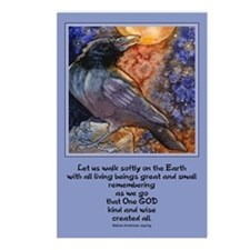 """Walk softly.."" Postcards (Package of 8)"