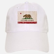 California Flag Distressed Baseball Baseball Cap