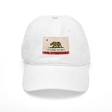 California Flag Distressed Baseball Cap