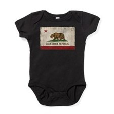 California Flag Distressed Baby Bodysuit