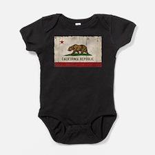California Flag Distressed Baby Bodysuit