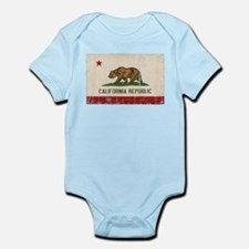 California Flag Distressed Infant Bodysuit