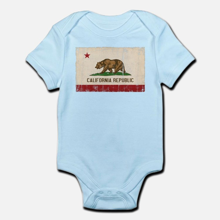 California Flag Distressed Infant Bodysuit