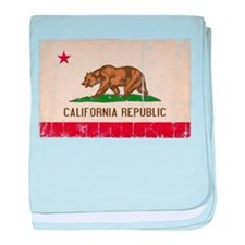 California Flag Distressed baby blanket
