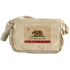 California Flag Distressed Messenger Bag