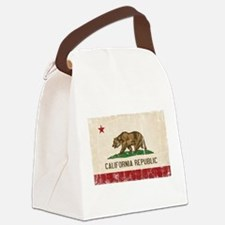 California Flag Distressed Canvas Lunch Bag