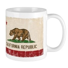 California Flag Distressed Mug