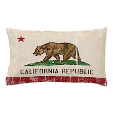 California Flag Distressed Pillow Case