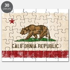California Flag Distressed Puzzle