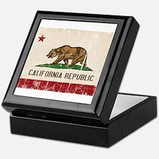 California Flag Distressed Keepsake Box