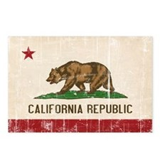 California Flag Distressed Postcards (Package of 8