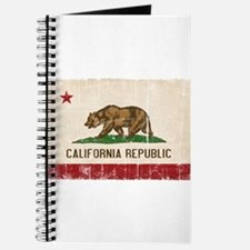 California Flag Distressed Journal