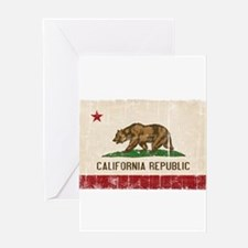 California Flag Distressed Greeting Card