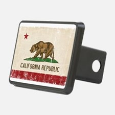 California Flag Distressed Hitch Cover
