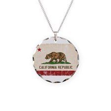 California Flag Distressed Necklace