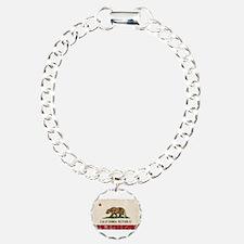 California Flag Distressed Bracelet