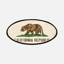 California Flag Distressed Patches
