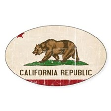 California Flag Distressed Decal