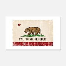 California Flag Distressed Car Magnet 20 x 12